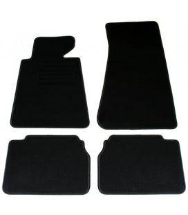 Juego de alfombrillas para Bmw E34 Berlina sedan alfombras velour negras esterillas