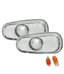 Par de intermitentes laterales cromados klarglas para Opel Astra G + modelos Bertone