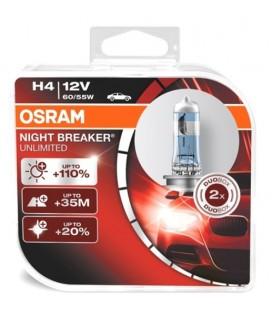 Bombillas Osram Night Breaker Unlimited H4 60/55W lámparas para coche