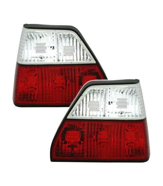 Par de pilotos traseros VW Golf MkII mk2 focos rojo blanco