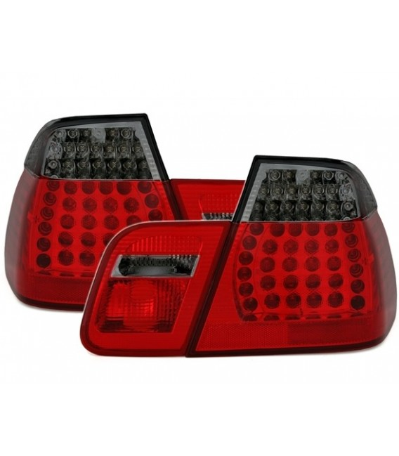 Par de pilotos traseros led para Bmw E46 berlina sedan restyling rojo ahumado