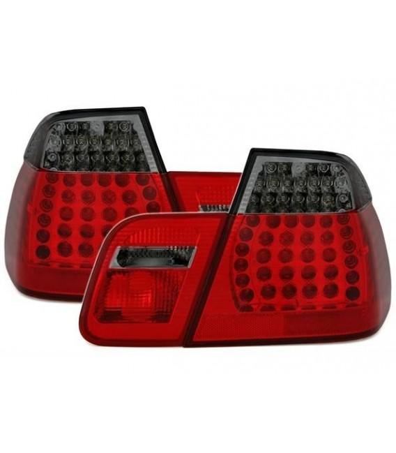 Par de faros traseros led para Bmw E46 Berlina Sedan 98-01 rojo ahumado