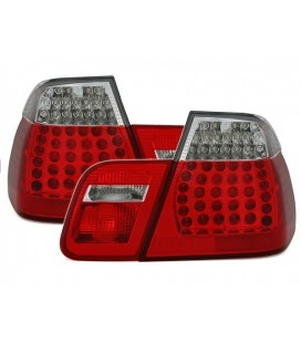 Set de ópticas traseras led de Bmw E46 Sedan 98-01 con intermitente blanca look M3