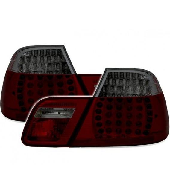 Juego de pilotos traseros led para Bmw E46 Coupe 99-03 rojo oscuro