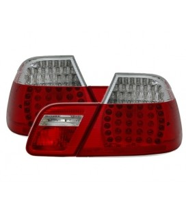 Kit de pilotos traseros led para Bmw E46 Coupe 99-03 look M3 rojo blanco