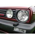 Par de faros cromados para VW Golf MkII focos delanteros klarglas H4