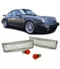 Par intermitentes delanteros blancos para Porsche 911 930 pilotos indicadores intermitencias blancas