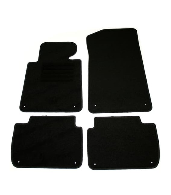Set de alfombrillas para Bmw E46 Berlina alfombras velour negras esterillas