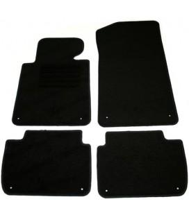 Juego de alfombrillas para Bmw E46 Coupé alfombras velour negras esterillas
