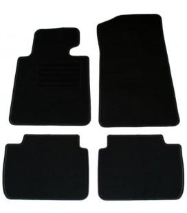 Juego de alfombrillas para Bmw E46 Compact alfombras velour negras esterillas