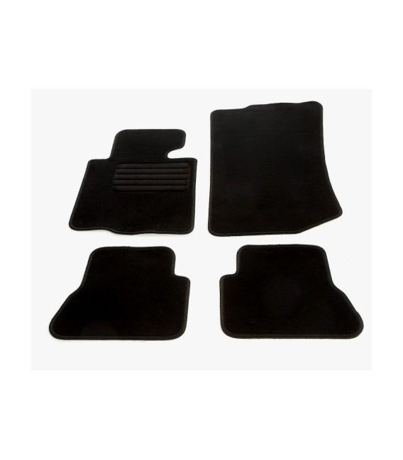 Juego de alfombrillas para Bmw E46 Cabrio alfombras velour negras esterillas
