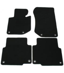 Juego de alfombrillas para Bmw E36 Compact alfombras velour negras esterillas