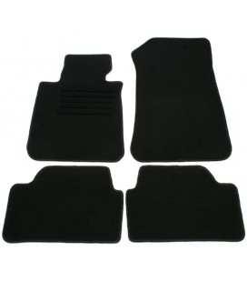 Set de alfombrillas para Bmw Serie 1 E87 5 puertas alfombras velour negras esterillas
