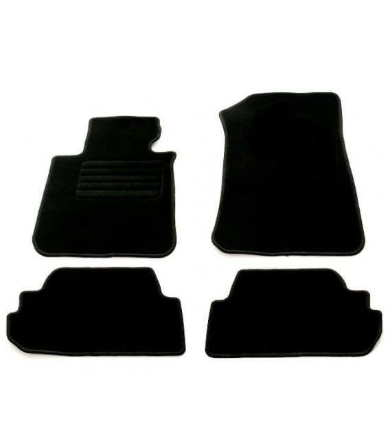 Set de alfombrillas para Bmw Serie 1 E88 Cabrio alfombras velour negras esterillas