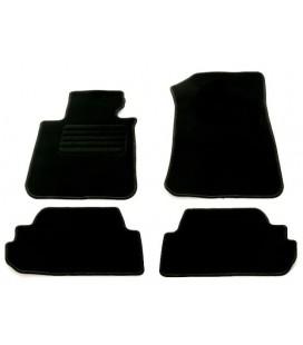 Kit de alfombrillas para Bmw Serie 1 E88 Cabrio alfombras velour negras esterillas