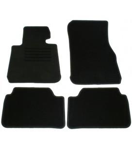 Juego alfombrillas para Bmw Serie 1 F20 5 puertas alfombras velour negras esterillas