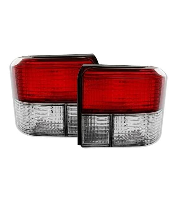 Par de focos pilotos traseros Volkswagen T4 Klarglas rojo blanco VW