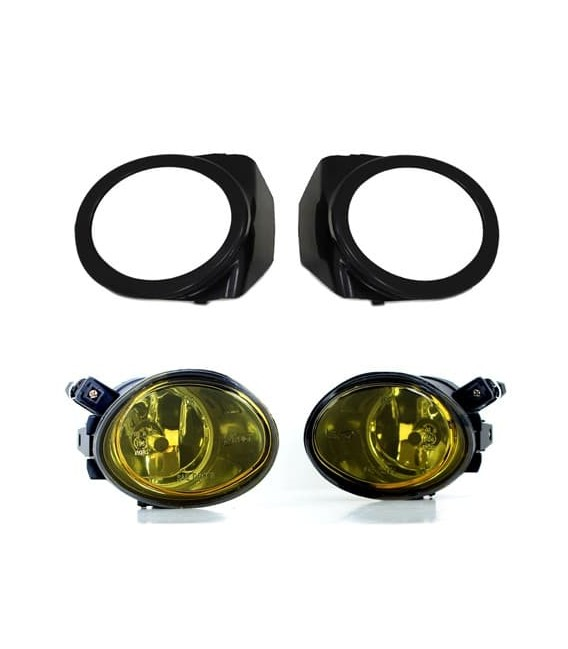 Juego de faros antiniebla Pack M para Bmw E46 Coupe color amarillo