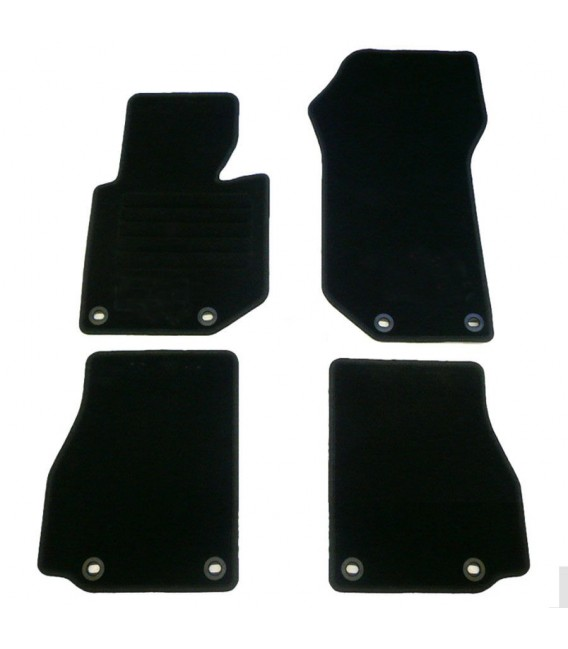 Juego de alfombrillas para Bmw E36 Cabrio descapotable alfombras velour negras esterillas