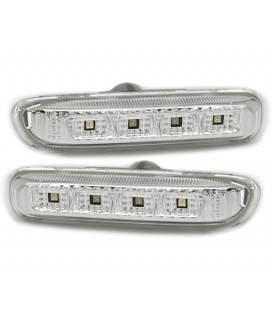 Par de intermitentes laterales de leds blancos Bmw E46 intermitencias de aleta blancas